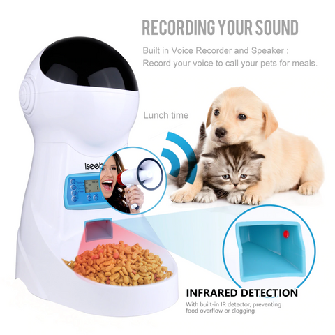 Automatic Pet Feeders with voice record