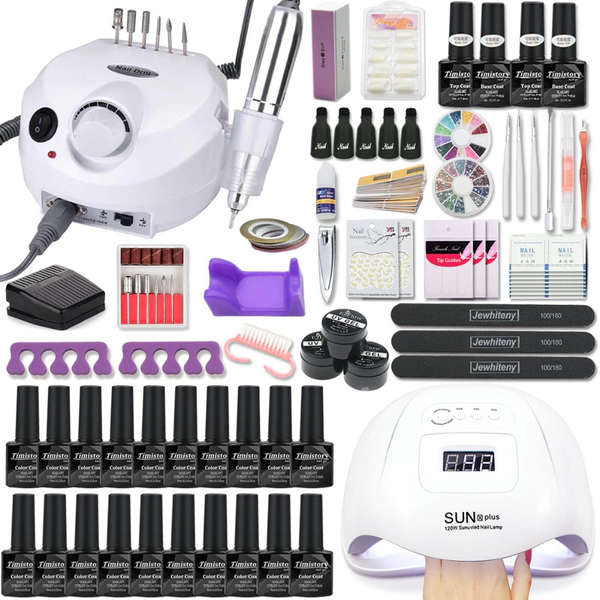 Manicure Sets Electric with Led Nail Lamp
