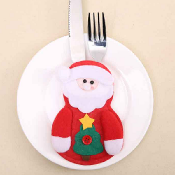 Santa Claus Christmas cutlery Holders