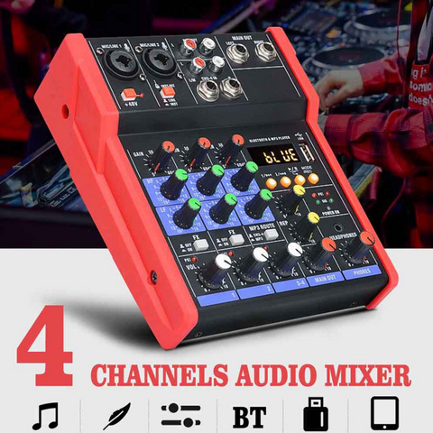 audio mixer 4 channel