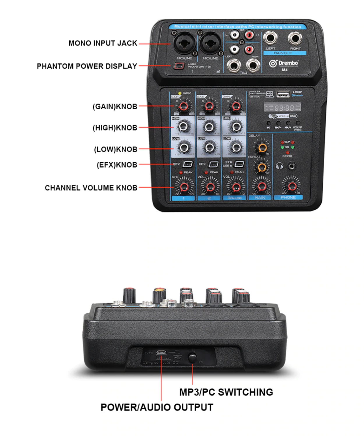 6 channel mixers