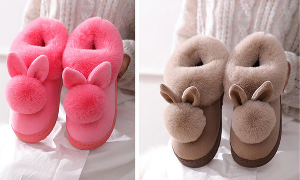 bunny slippers womens