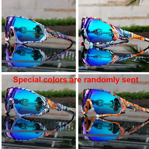 cycle sunglasses with pattern