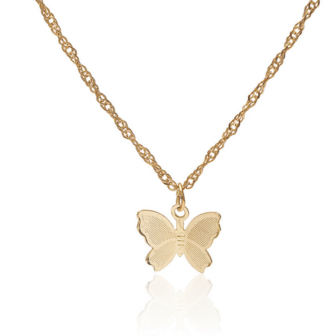 gold butterfly necklaces