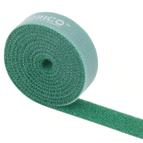 green reusable cable ties