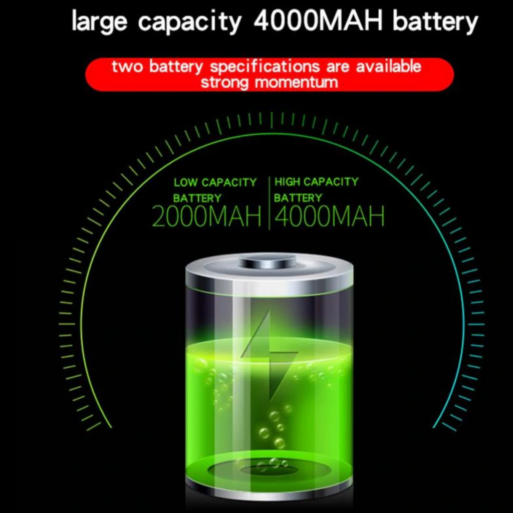 high capacity bike light 4000 mah battery