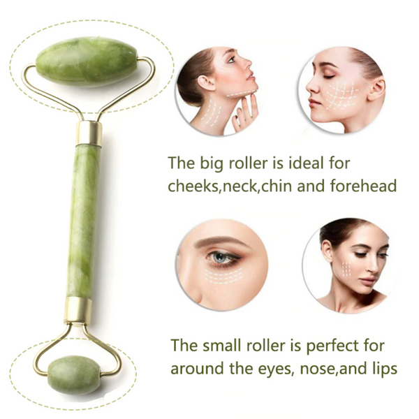 how to use a jade face roller