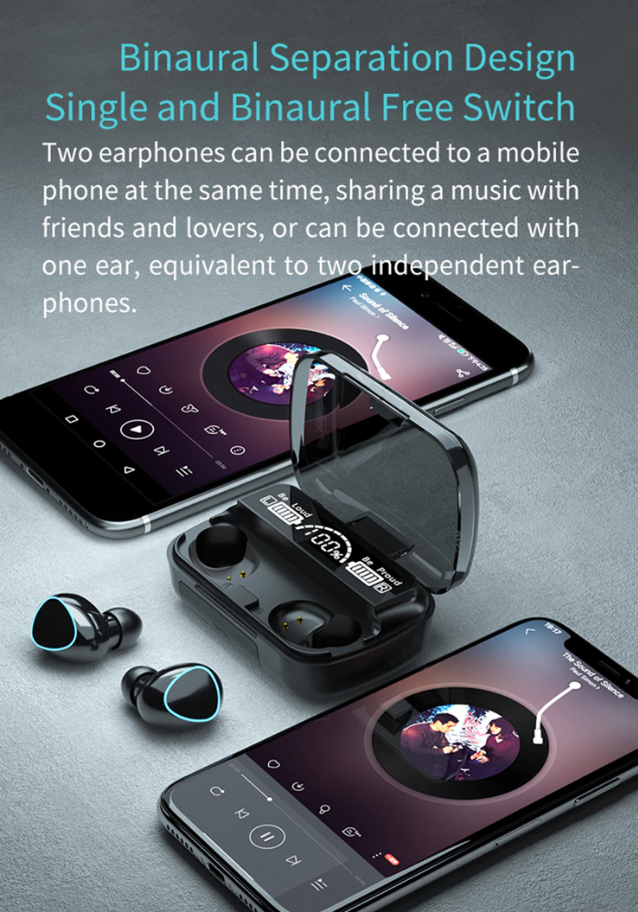 i7 tws rechargeable earbuds