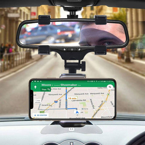 rear view mirror phone holder