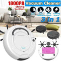 Self Vacuum Robot Cleaners, 3 in 1 Rechargeable Automatic Smart Cleaner Sweeper Suction Dust Remover for Cleaning Pet Hair, Hard Floor and Low Pile Carpet