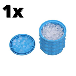 1x Ice Bucket, Large Silicone Ice Bucket Ice Mold With Lid Ice Cube Maker