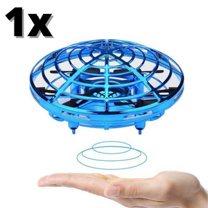 1x Blue Mini UFO Drone Toys Hand Operated Drones for Kids or Adults