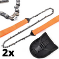2x Portable Handheld Survival Chain Saw Wood Cutting Tool