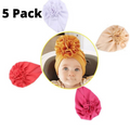Girls Baby Cotton Cloth Turban Toddler Bow Hospital Hat Kids Set Head Cap Baby Hats