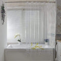 Waterproof Mesh Pockets Shower Curtain Vinyl Shower Curtain with Mesh Pockets in Clear