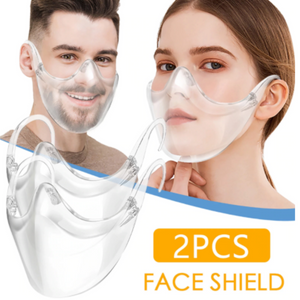 set of 2 Protective Transparent Face Shields