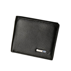 Black Smart Anti-Lost Bluetooth Wallet Alarm Position Record via Phone GPS