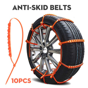 Universal Emergency Anti-Skid Snow Chain Zip Tie Kit