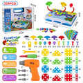 STEM Learning Toys Mosaic Puzzle Electric DIY Drill Educational Set