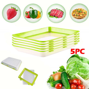 Stackable Reusable Food Preservation Tray for Food Preservation