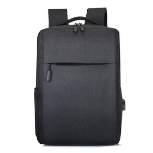 Black Laptop Backpack with USB Charging Port Slim Business Travel Durable