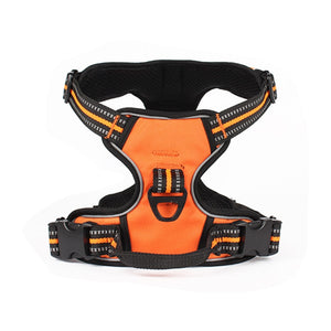 orange reflective dog harness