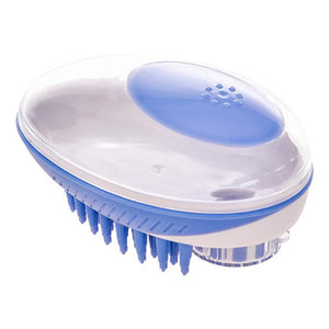 2 in 1 Dog Bath Brush Massage Brush Shampoo Dispenser for Pet Grooming