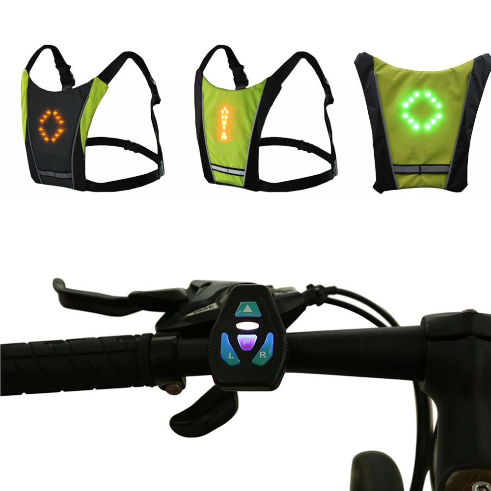 reflective cycle vest with LED turn signal