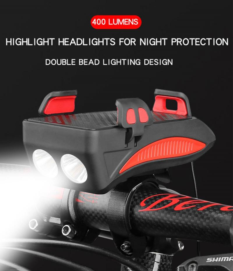 Bike Phone Holder 400 Lumens Light for Bike