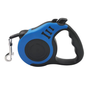 Blue Dog Leash Automatic Retractable
