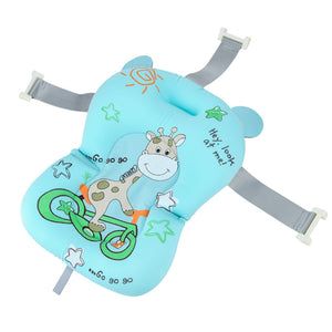 Baby Bath Cushion Seat Non-Slip Bathtub Pad Portable Air Cushion Bed