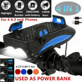 Bike Phone Holder Light for Bike Horn Bike Headlamps 4 in 1