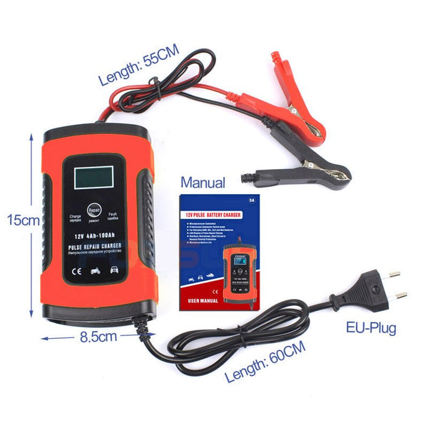 charger for motorcycle battery