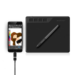 Graphics Tablet with Pen - 6.5x4 Inches 8192 Level Battery-free Pen
