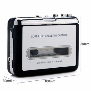 Cassette Tape to MP3 Converter Portable Tape Player Captures MP3 Audio