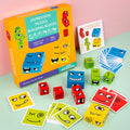 Thinking Training Children Face-Changing  Geometric Cube Face Building Blocks