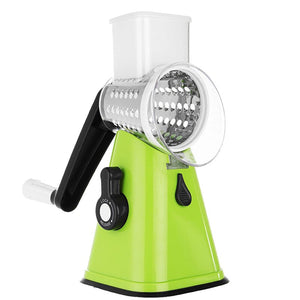 Green 3 in 1 Vegetable Slicer Swift Rotary Drum Grater