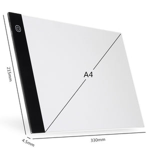LED Drawing Pads Light Box Drawing Tablets A4 LED Tracing Tablet