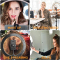 Selfie Light Ring 10.2 Inch Selfie Ring Light Tripod with Stand