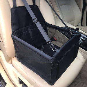 Black Car Seats for Small Dogs Collapsible Pet Booster Car Seat for Vehicles