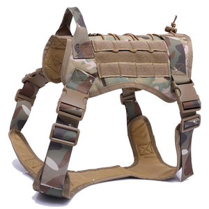 camouflage Tactical Dog Harness