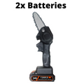 2 Batteries Best Electric Chainsaws Rechargeable Mini Chainsaw Lithium Handheld