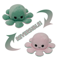 Octopus Plushie Octopus Doll Double-sided Flip Doll Octopus Plush Toy Flip Octopus Show your mood without saying a word!