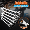 Tubing Ratchet Wrench Spanner with Flexible Head Adjustable High Hardness Tool