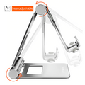 Foldable Phone Tablet Stand Adjustable Foldable Tablet Holder For iPad 7.9, 9.7 Aluminum Alloy Desktop Stand For iPad mini/iPad Air