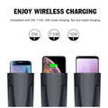 Cup Holder Phone Charger 4 in1 QI Fast Wireless Car Charger Dual USB