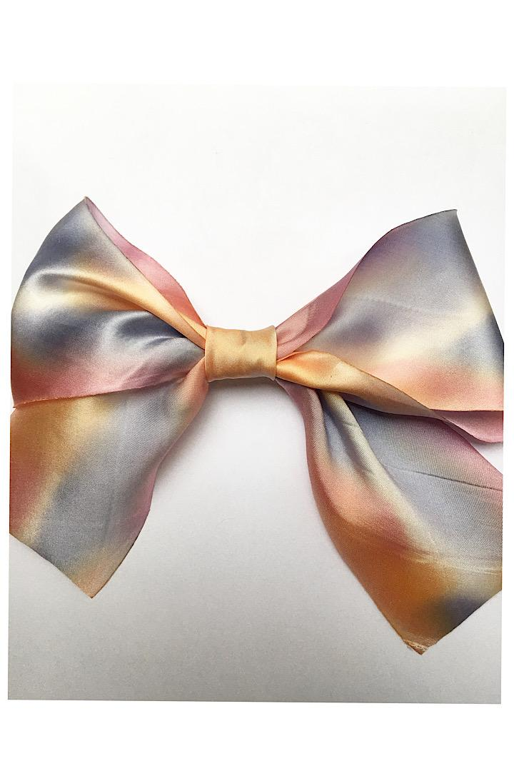 Ombre Silk Hair Bow