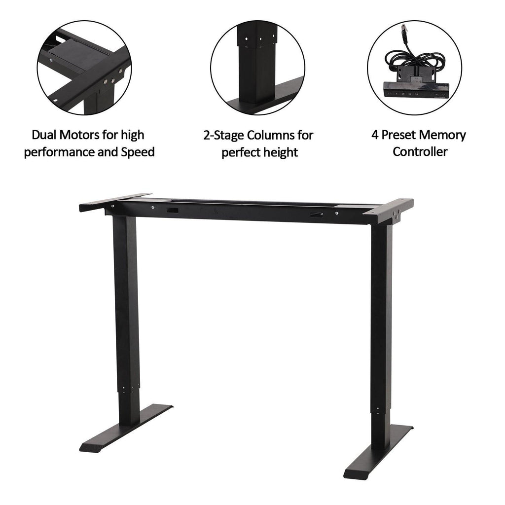 FlexiDesk Electric Standing Desk Adjustable Height w/ Memory Store Control - Until Times Up