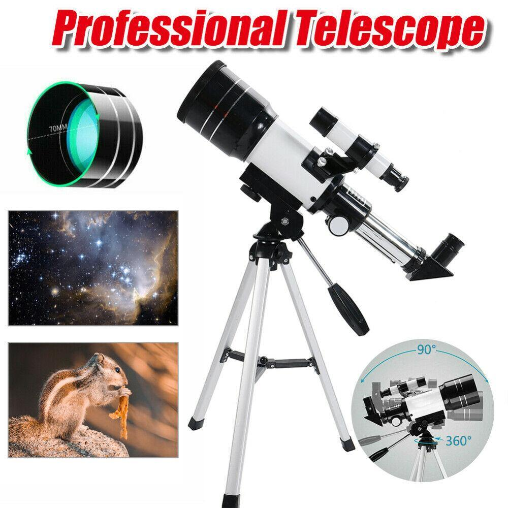 70mm Astronomical Refractor Telescope With Tripod - Until Times Up