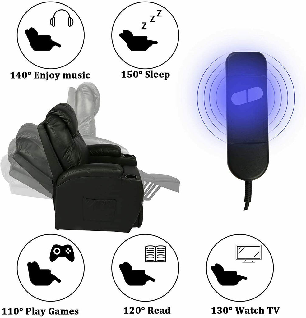 Koreyosh Power Lift Electric Recliner Chair with Heated Vibration Massage - Until Times Up
